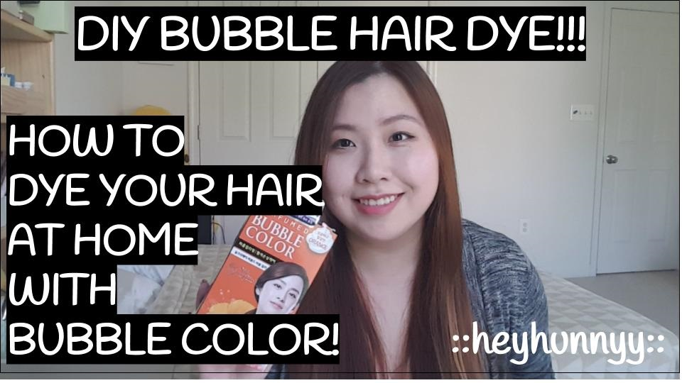 ::YOUTUBE:: BUBBLE DYE!! How to dye your hair at home!