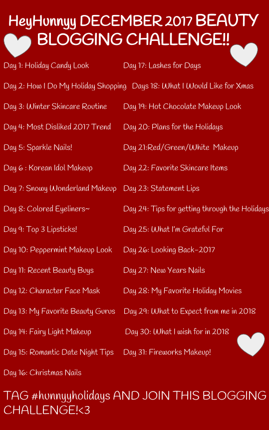 DECEMBER BEAUTY BLOGGING CHALLENGE!