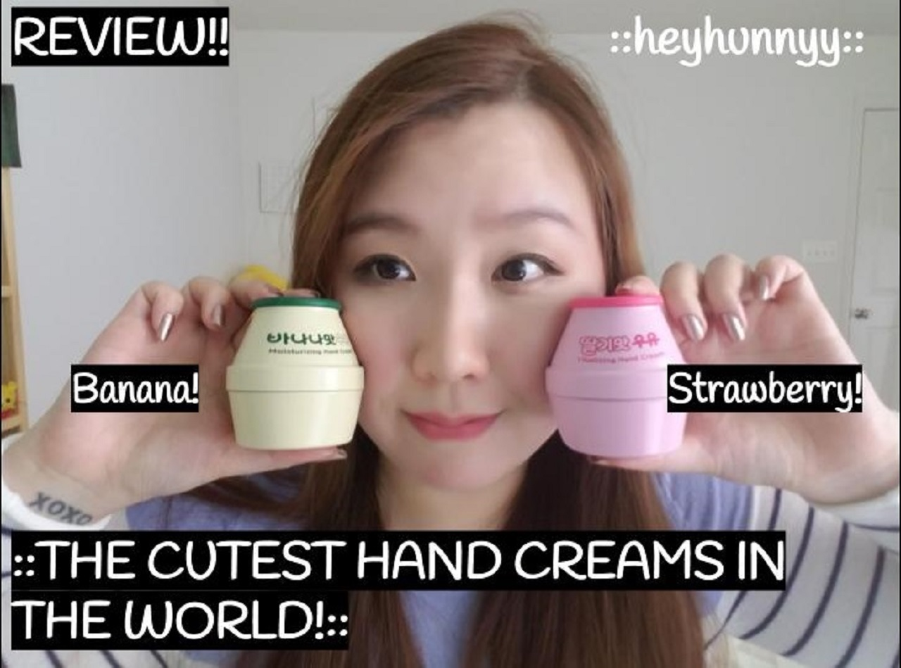 ::YOUTUBE:: BANANA MILK & STRAWBERRY MILK HAND CREAM REVIEW!!