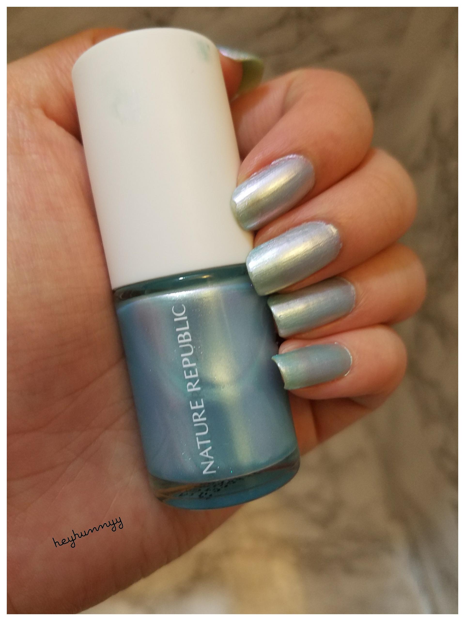 ::FRIYAY:: Holographic Blue Nails!!