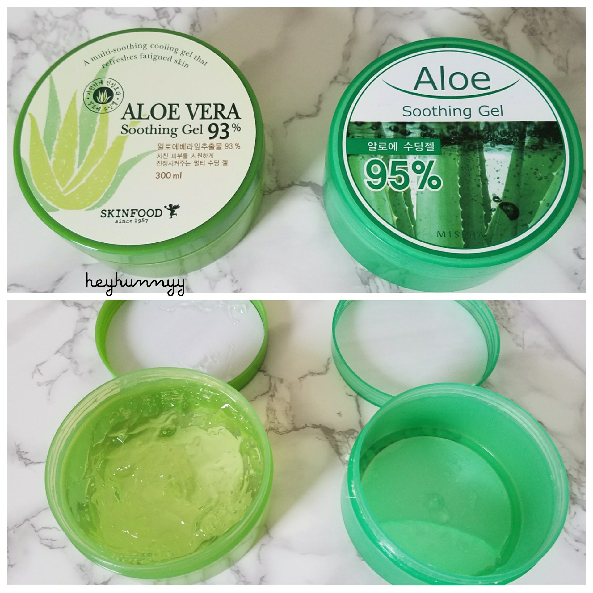 ::HUNNYYBASE:: Is there really a difference between 93% and 95% Aloe?