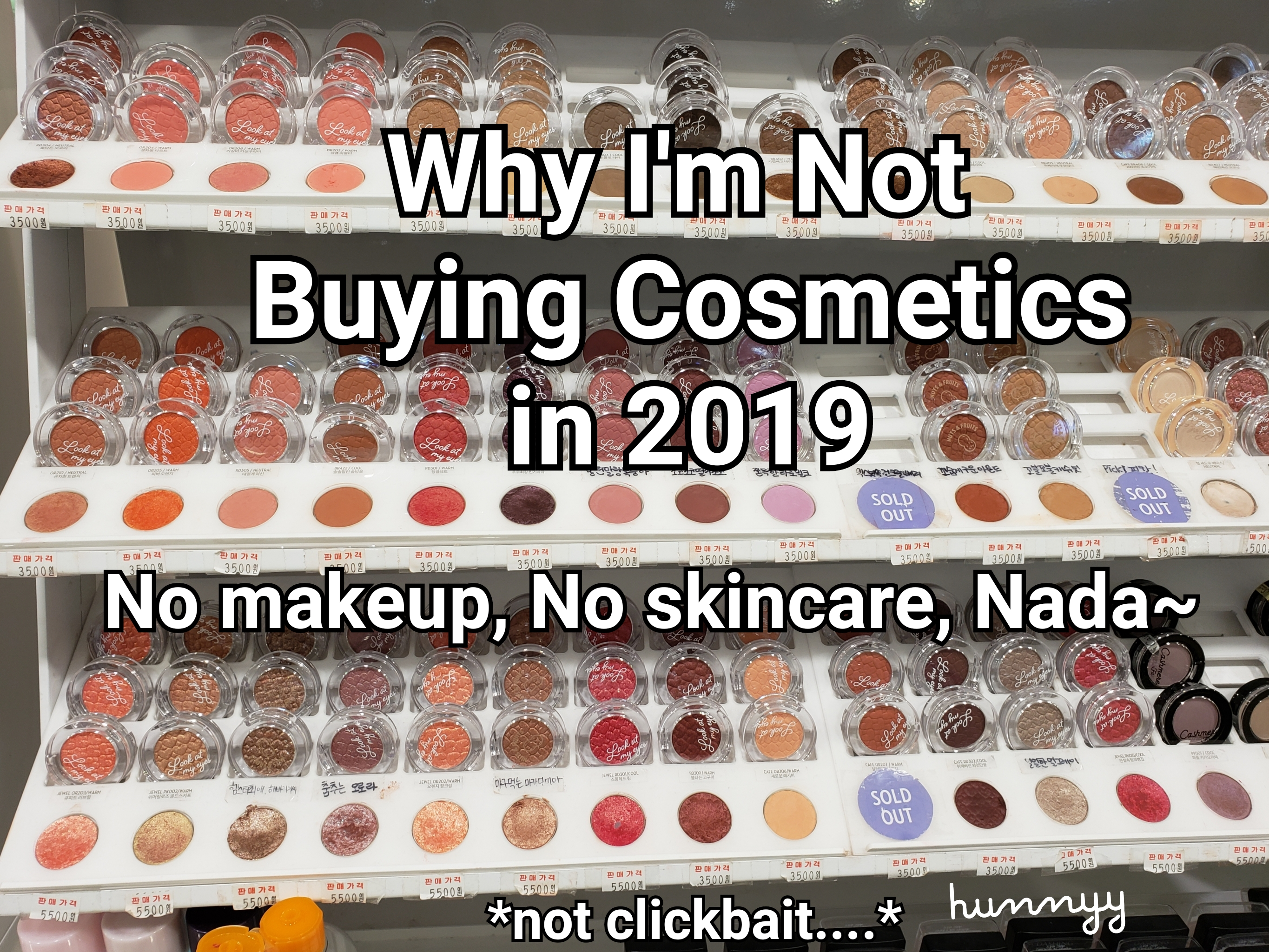 Why I Am Not Buying Any Makeup in 2019.
