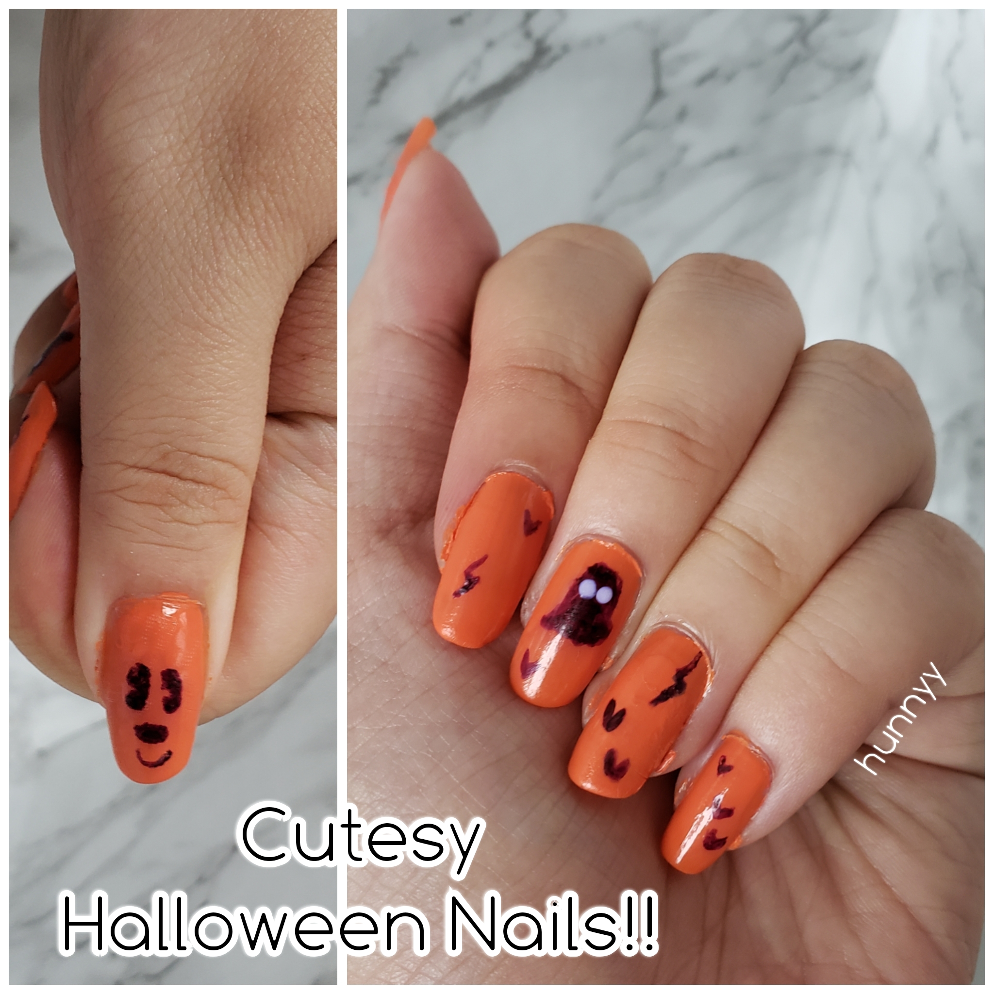 ::Hunnyy:: Quick & Cute Halloween Nails!