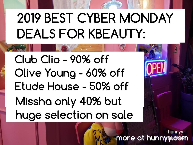 2019 Cyber Monday KBEAUTY Sale Mega List!!