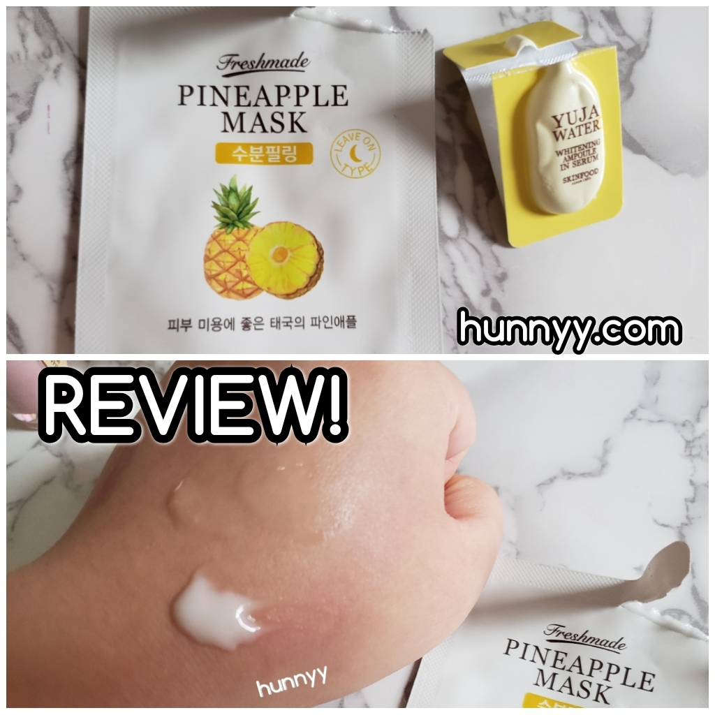 ::REVIEW:: Skinfood – Pineapple Mask & Yuja Water!