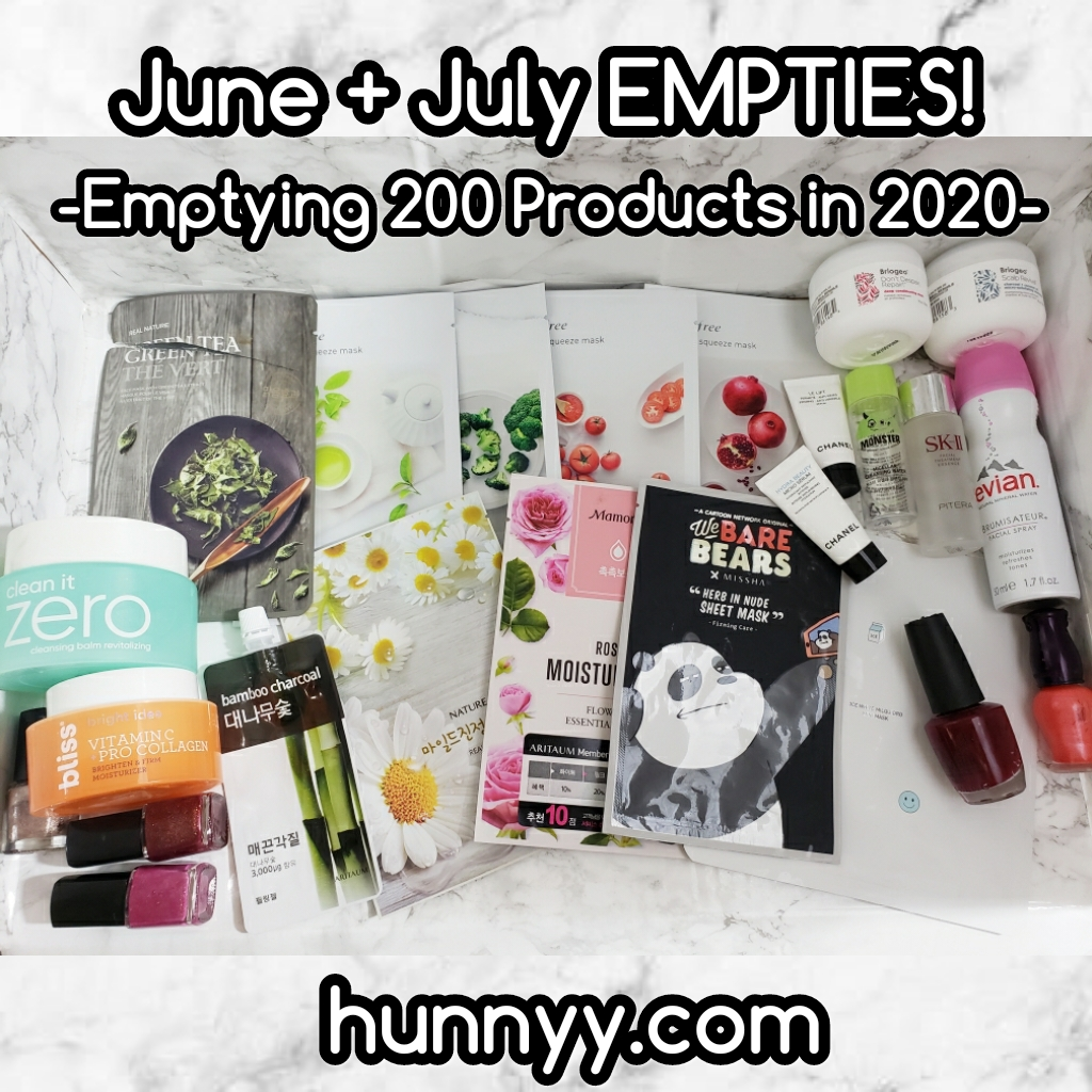 Emptying 200 Beauty Products! June & July!!