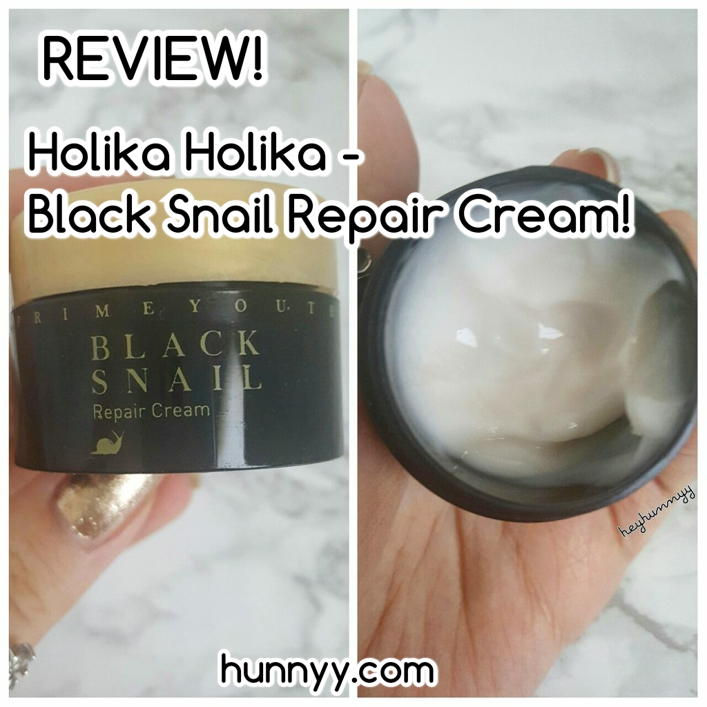 ::REVIEW:: Holika Holika – Black Snail Repair Cream