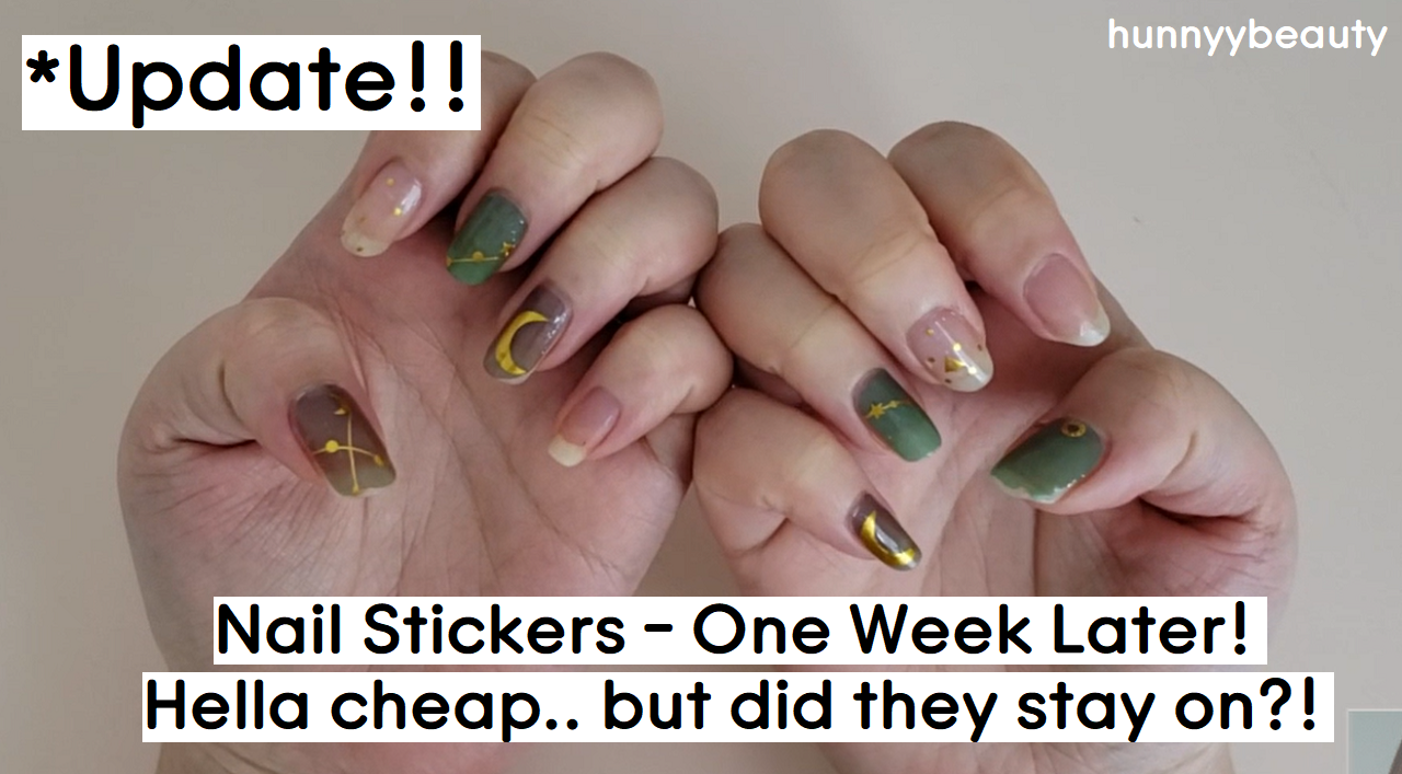 ::YOUTUBE:: My first time with nail stickers and suprisingly one week later!